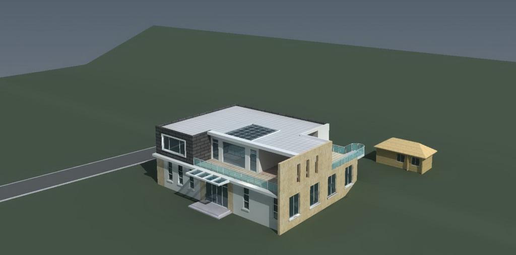 别墅效果图前期方案模型