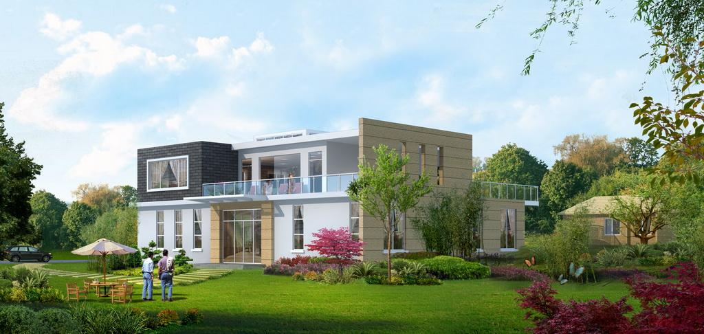 别墅建筑方案模型